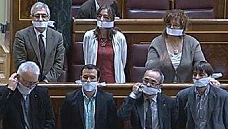 Mordazas en el Congreso de los Diputados