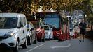 Tráfico denso a última hora de este miércoles en el cruce entre avenida de Arteixo, ronda de Nelle y Pla y Cancela