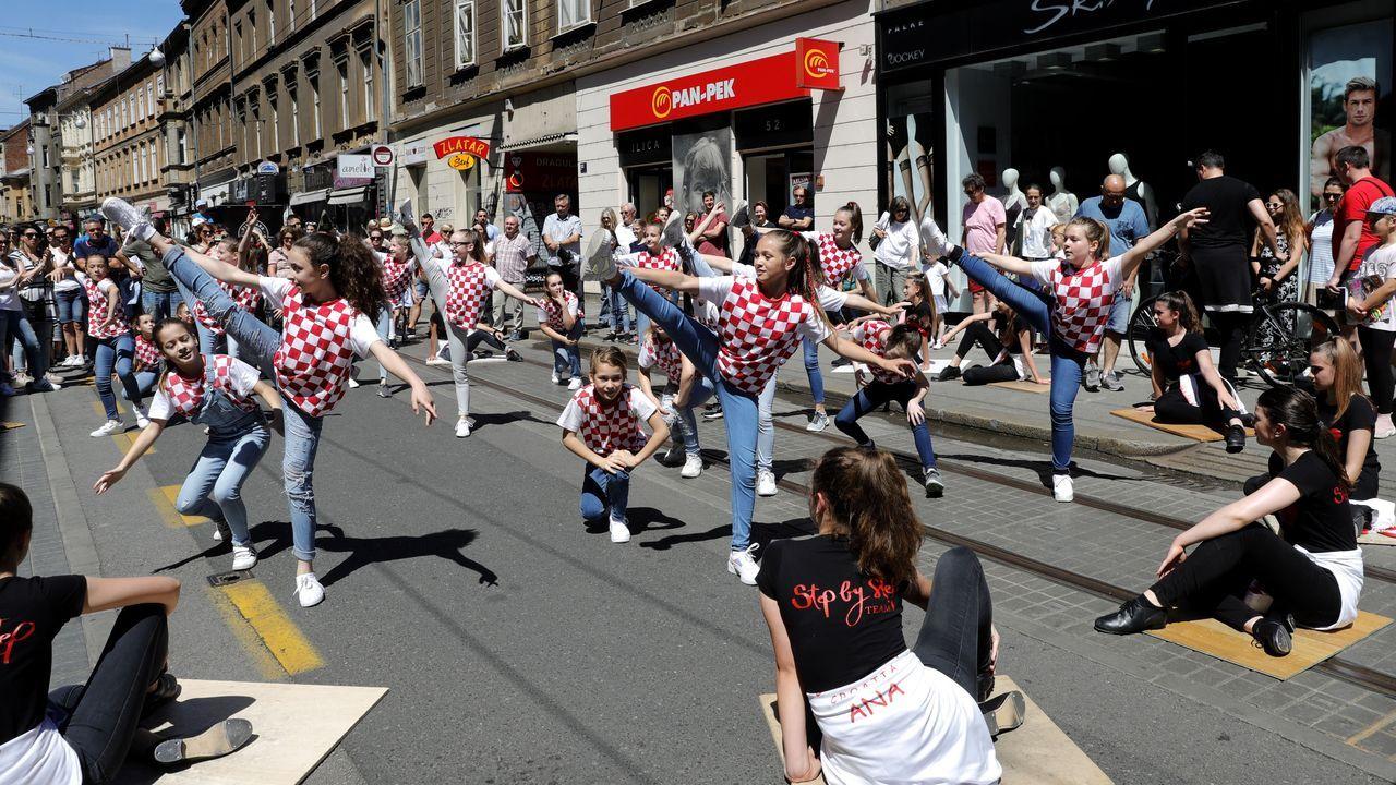 En Zagreb se ha celebrado un festival callejero, el primero tras el coronavirus