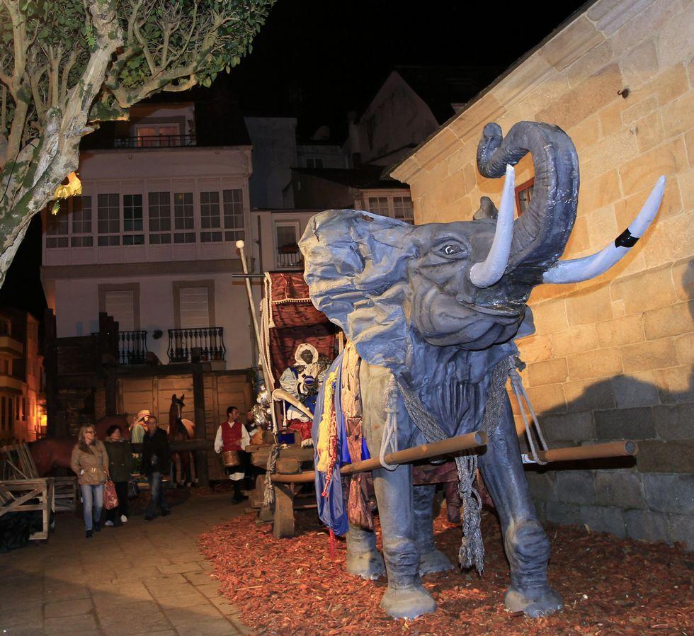 El belén gigante de Viveiro está en Santa María