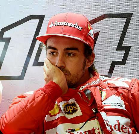 Imágenes del lluvioso Gran Premio de Japón.Fernando Alonso.