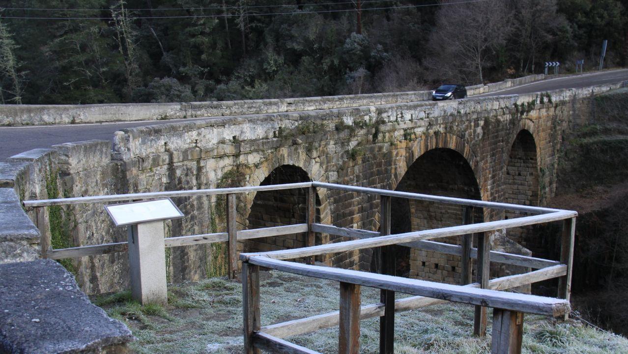 Imagen del puente Bibei de Trives, zona de la carretera en donde ocurrió el accidente