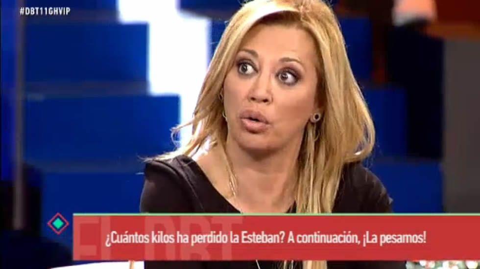 Belén Esteban, muy enfadada por las acusaciones de tongo.El programa fue líder de audiencia, con un 19% de «share»