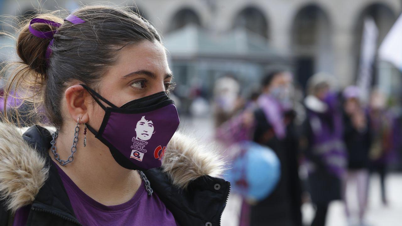 Fin de la marcha del 8M en María Pita
