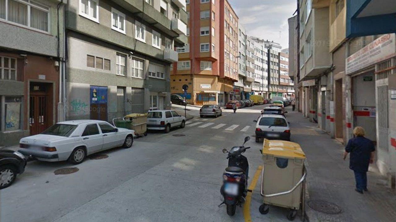Tramo de la calle Almirante Mourelle