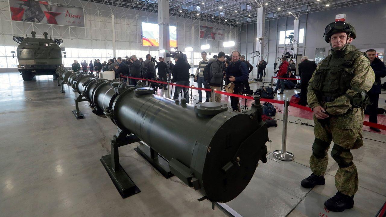 El misil de crucero SSC-8, durante su presentación en un hangar de Moscú el pasado mes de enero