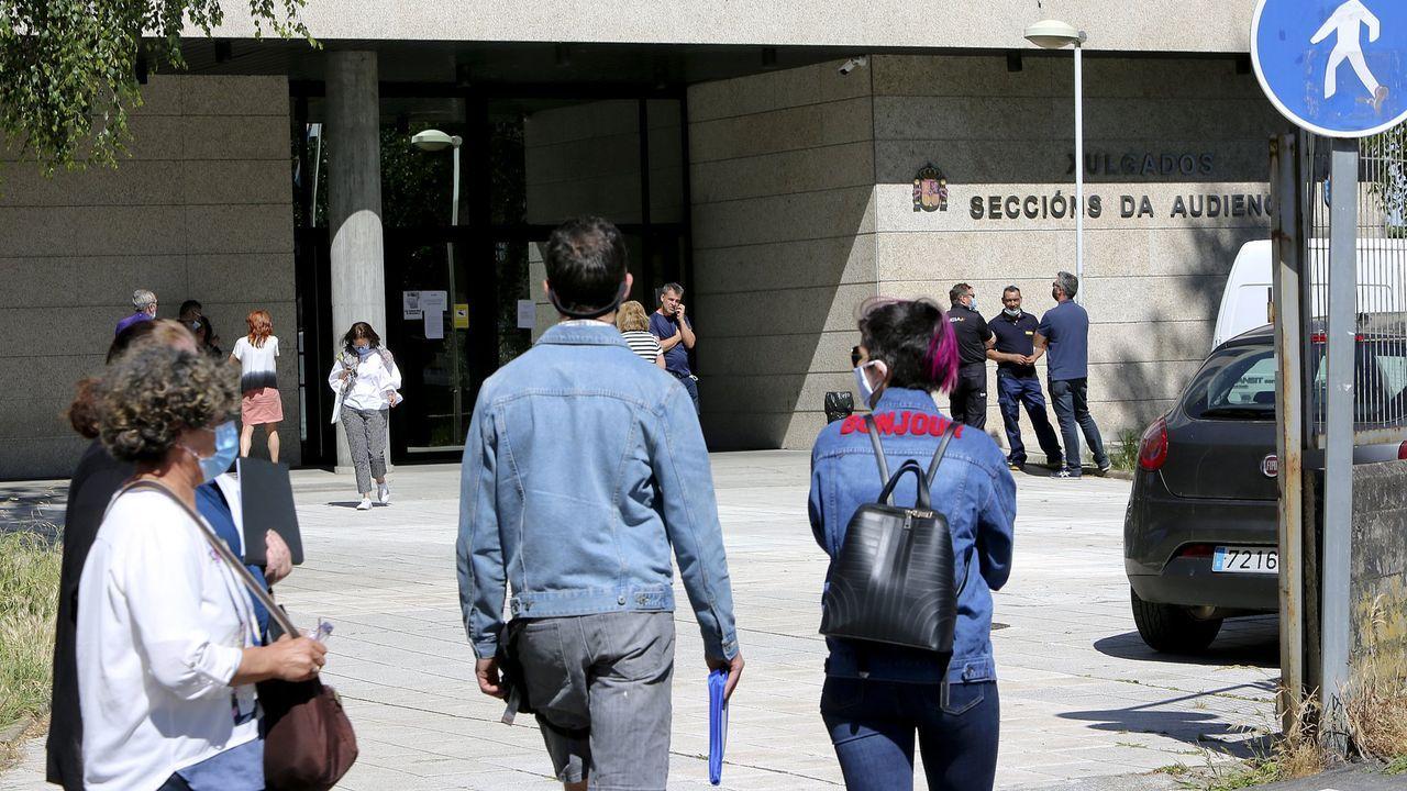 La jornada de limpieza de Coidemos Lugo, en imágenes.Imagen de archivo de los juzgados de Vigo