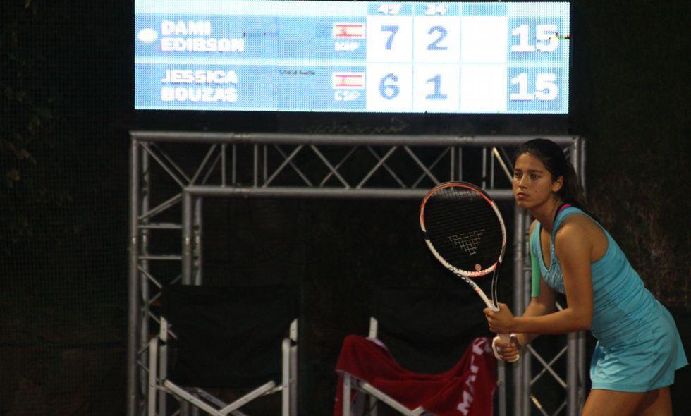 Jéssica Bouzas, ayer durante el segundo set.