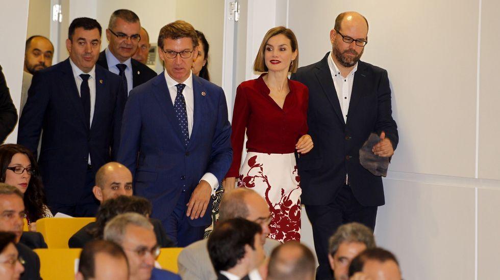 El alcalde de Caldas, ayer, durante su intervención en el foro Fairway.