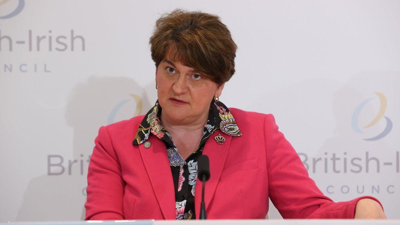 Arlene Foster dimitió este lunes como ministra principal de Irlanda del Norte
