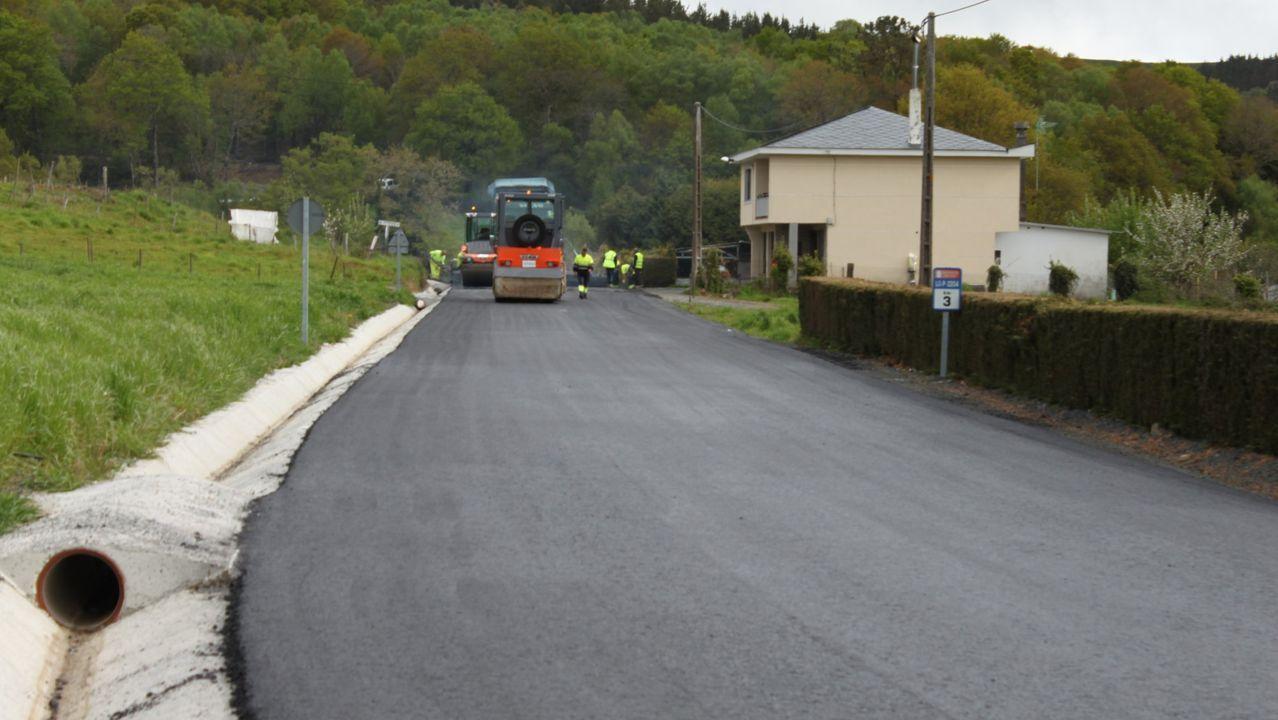 Foto de mejoras realizadas en el tramo inicial de la carretera