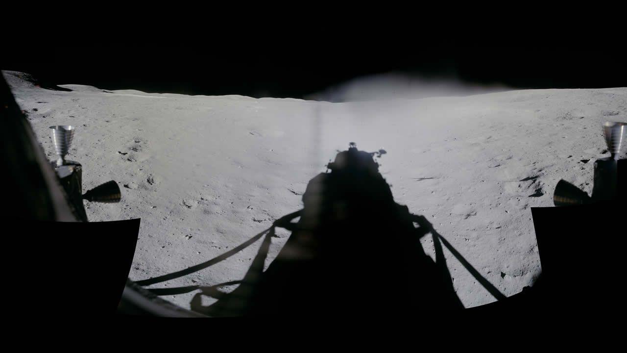 Vista panorámica desde la ventana del Apolo 16, año 1972