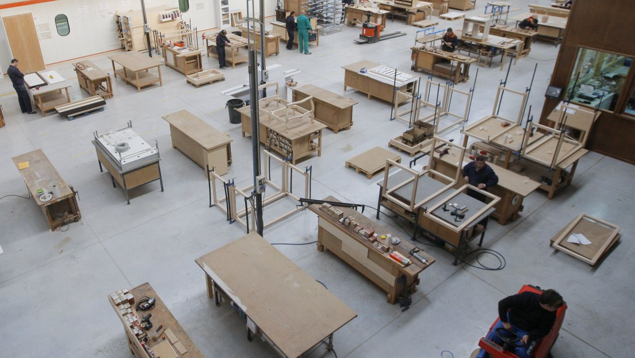 Imagen de archivo de las instalaciones de Cándido Hermida en su sede de Río do Pozo