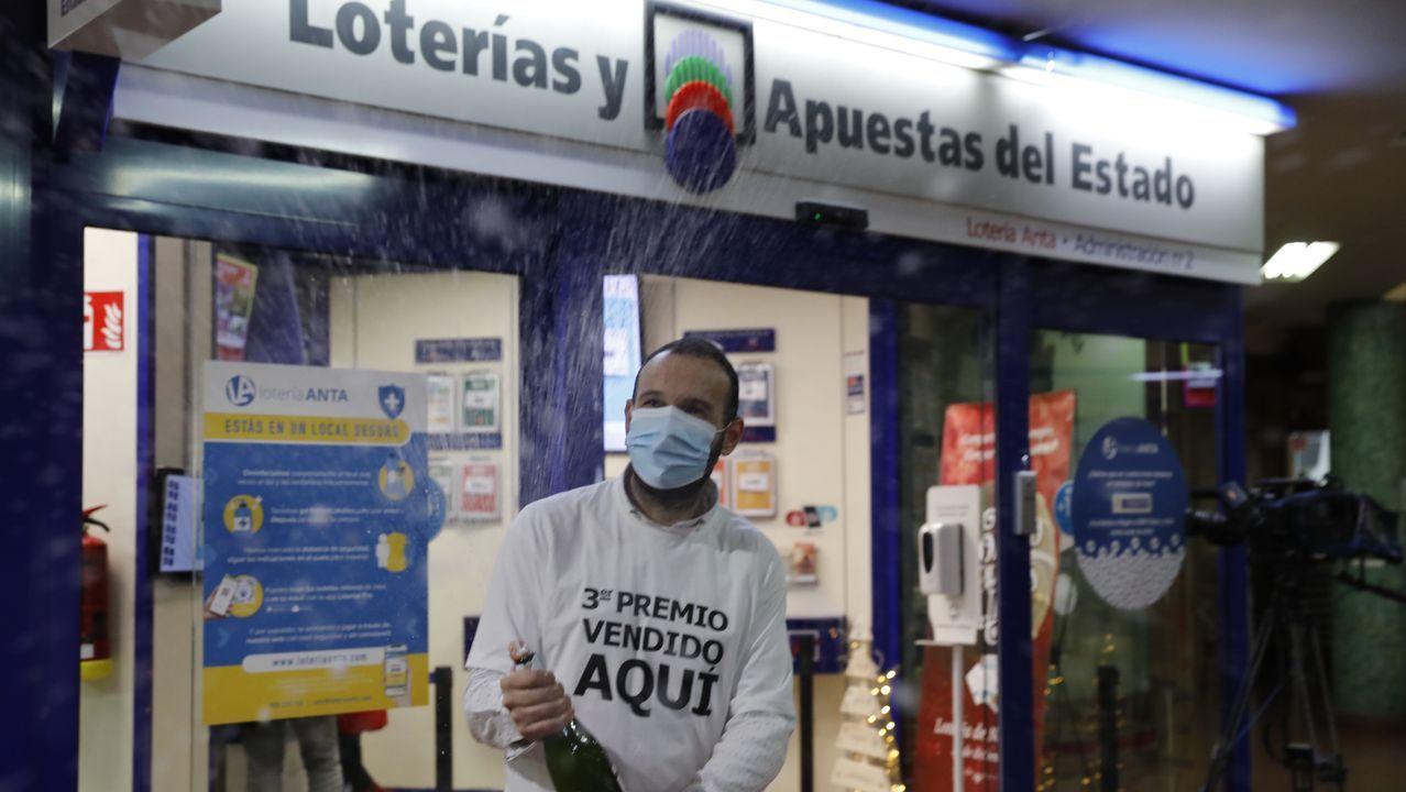 El tercer premio ha dejado medio millón de euros en Ourense
