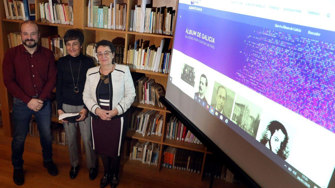 Pontevedra entrega sus premios más emotivos.Premios Cidade de Pontevedra 2020. Lola Dopico (Esdemga) y Rosario Álvarez