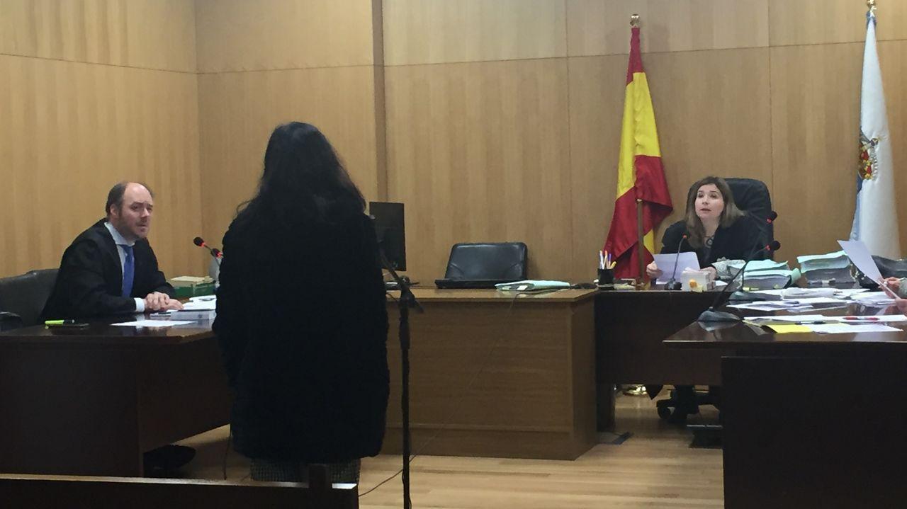 Imagen de la acusada en la sala