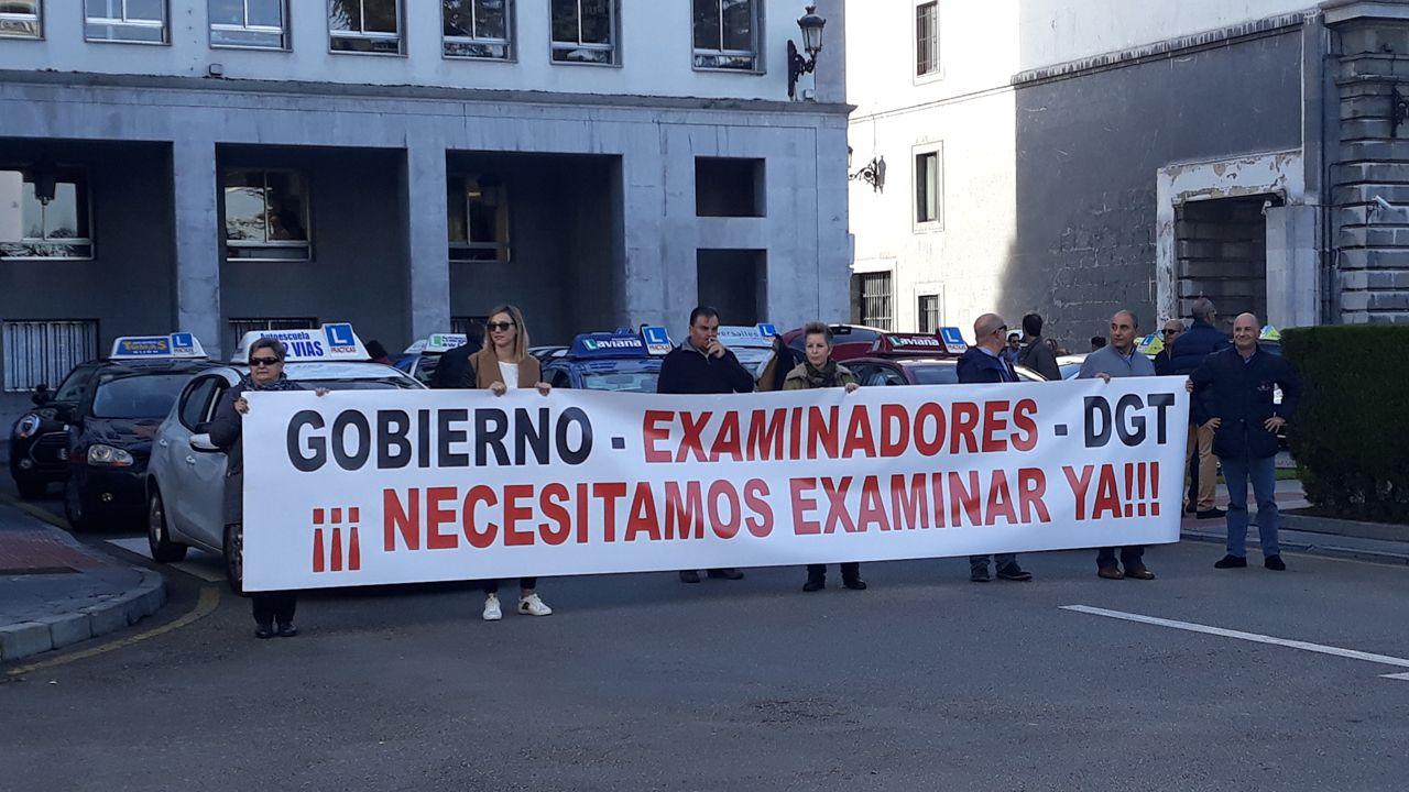 Manifestación de autoescuelas.Rubén Castro