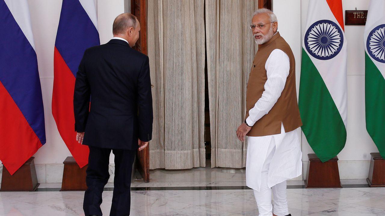 Putin y Modi se dirigen a su reunión en Delhi