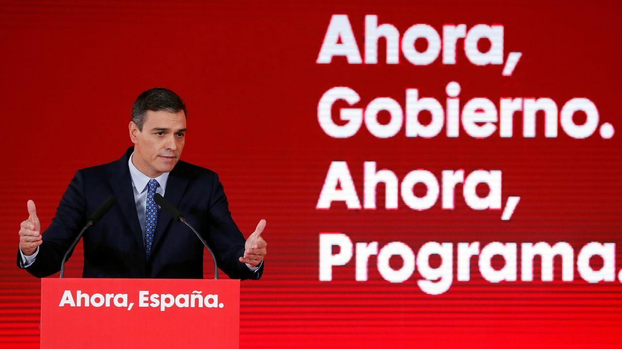 Así fue el ¿final? de Fortnite.El presidente del Gobierno en funciones y candidato socialista, Pedro Sánchez