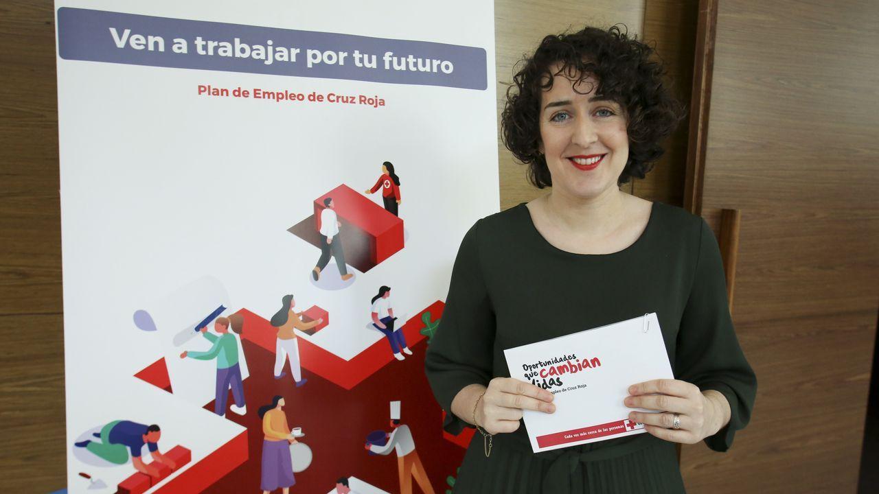 Mery Gómez, agente de empleo de Cruz Roja, explicó en Afundación el Plan de Empleo de la entidad para Ferrol