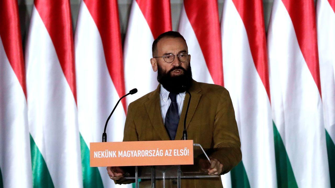 El eurodiputado húngaro József Szájer, uno de los fundadores del partido ultra Fidesz