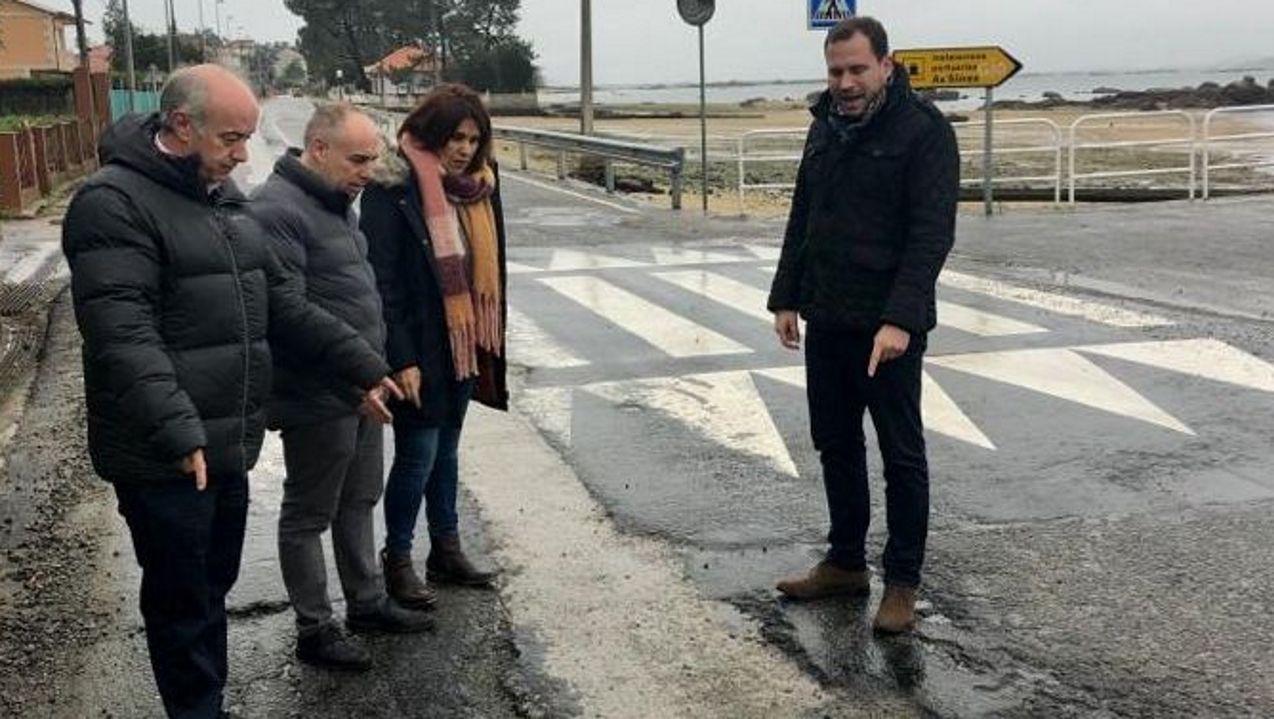 Simulación del nuevo proyecto para modificar la entrada a Oviedo por la Y.En primer término el viaducto de Ruitelán, de la A-6 y que fue de la N-VI, y que estará cortado hasta la primavera, y arriba el de Samprón, que se usarán en doble sentido de circulación