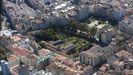Imagen aérea del convento de Santa Clara y de su huerta, que serán adquiridos por el Concello de Pontevedra