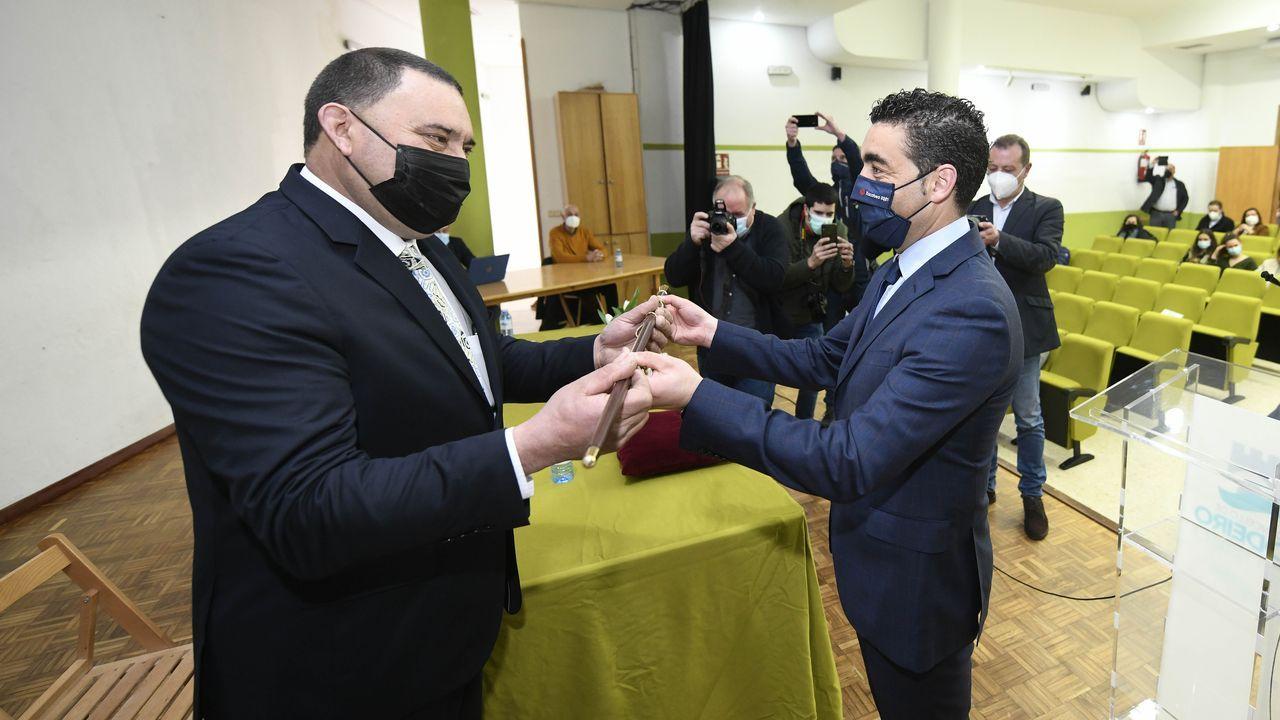 Almuiña y Rueda firman un acuerdo para formar a la policía portuaria de Vigo