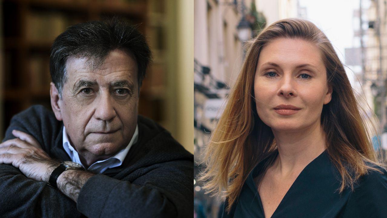 Los escritores Luis Landero y Tatiana Tibuleac