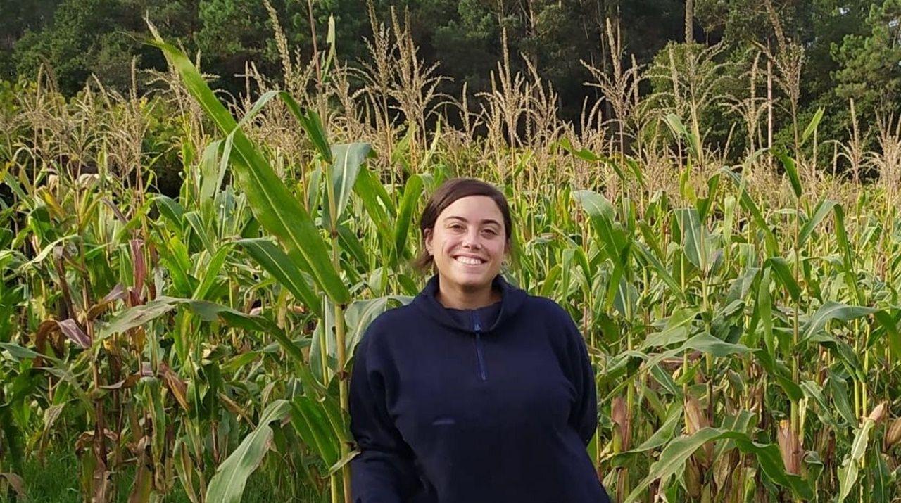 Irene Ortiz Leal desarrolla su investigación en la Facultade de Veterinaria, en la que Pablo Sánchez Quinteiro es profesor