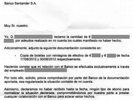 El documento remitido a los clientes para que puedan reclamar.