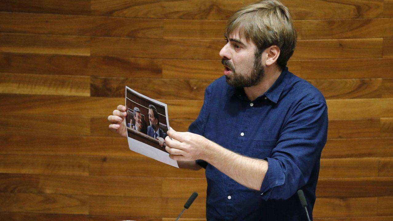 Mercedes Fernández interviene en el Comité Ejecutivo Regional del PP de Asturias.El secretario general de Podemos en Asturias, Daniel Ripa, durante su intervención en la tercera jornada del debate de orientación política general que se celebra en la Junta General del Principado.