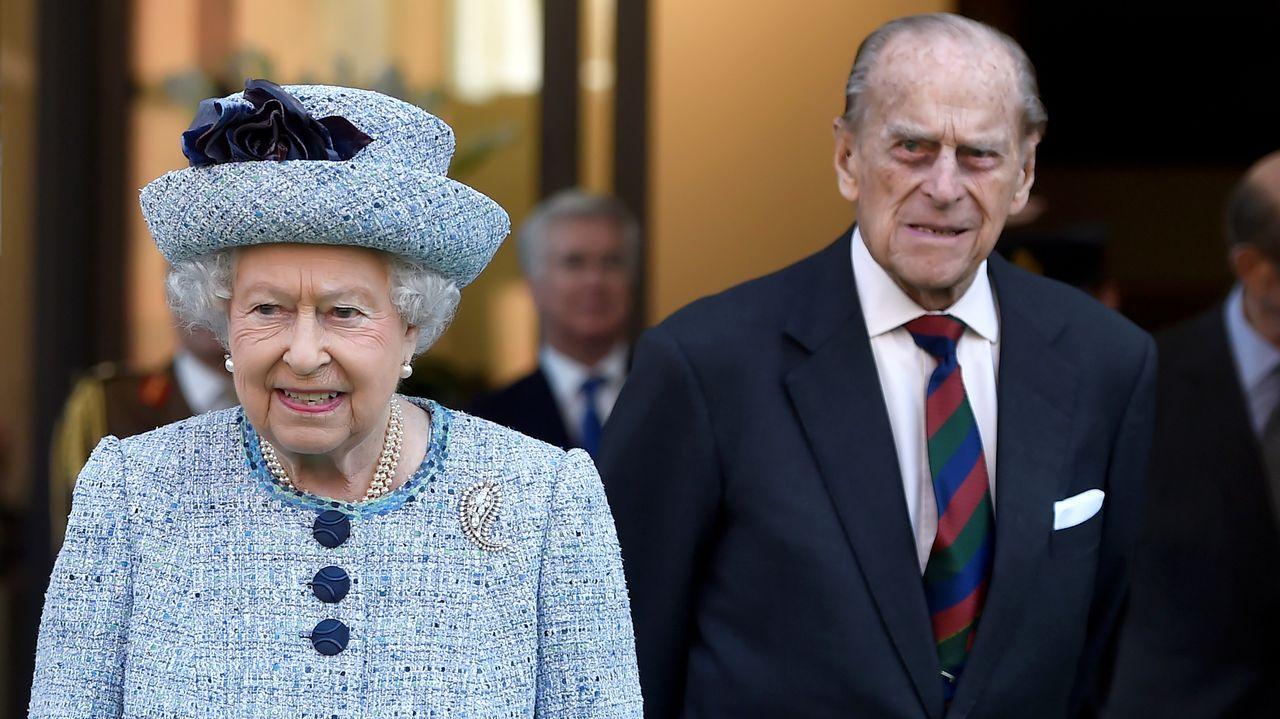 La reina Isabel II de Inglaterra y su esposo, Felipe de Edimburgo