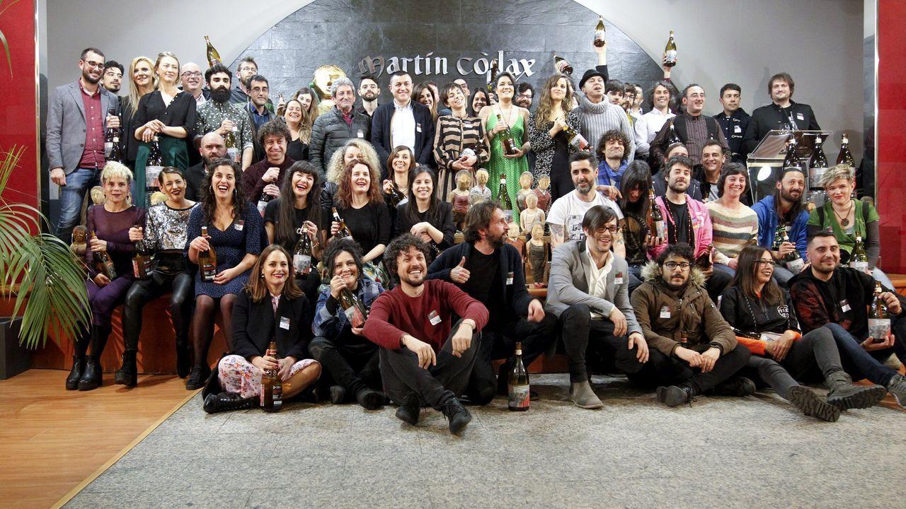 Foto de familia de los premiados en la edición del 2019