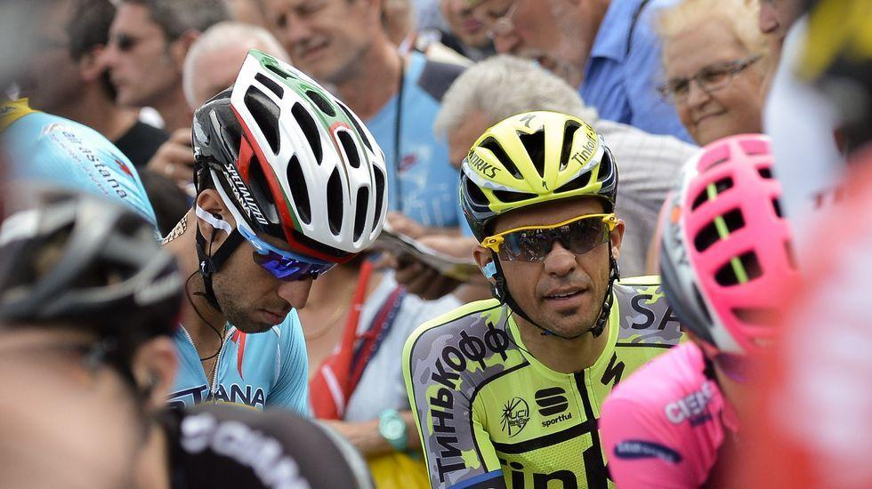 Contador junto a Nibali