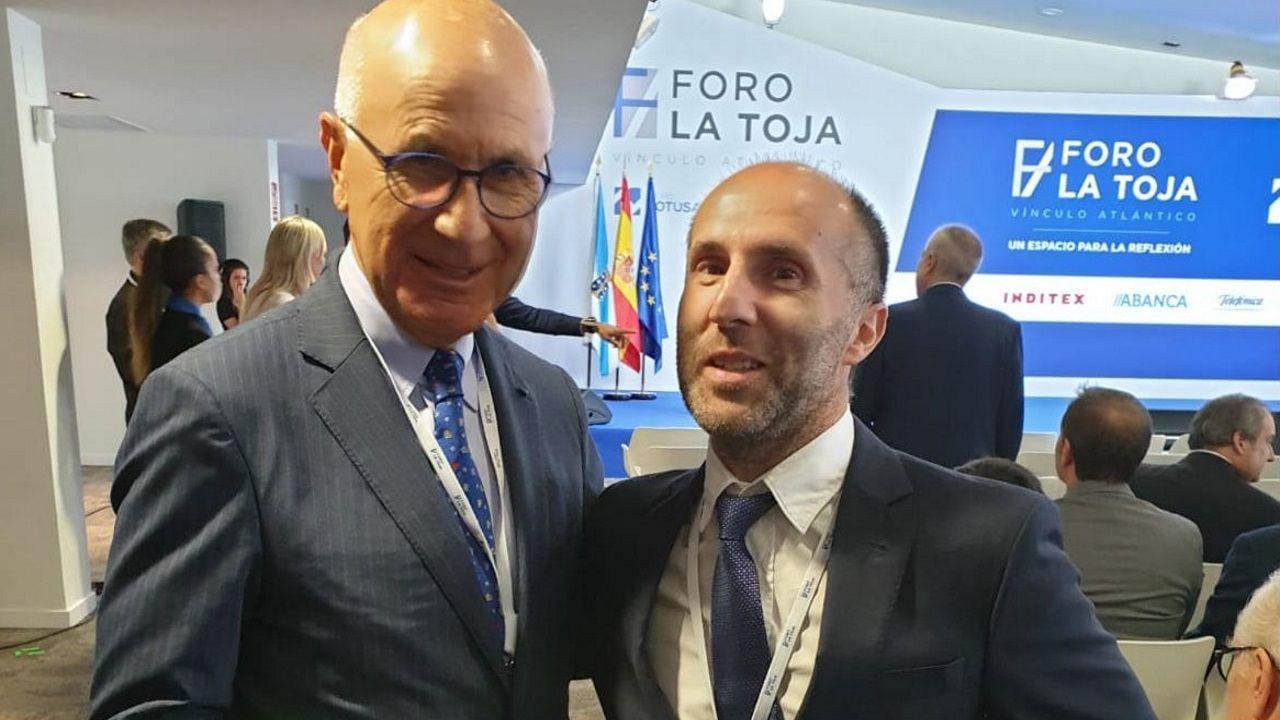 El político y abogado Josep Lluis Duran I Lleida y el alcalde de Ourense, Gonzalo Pérez Jácome