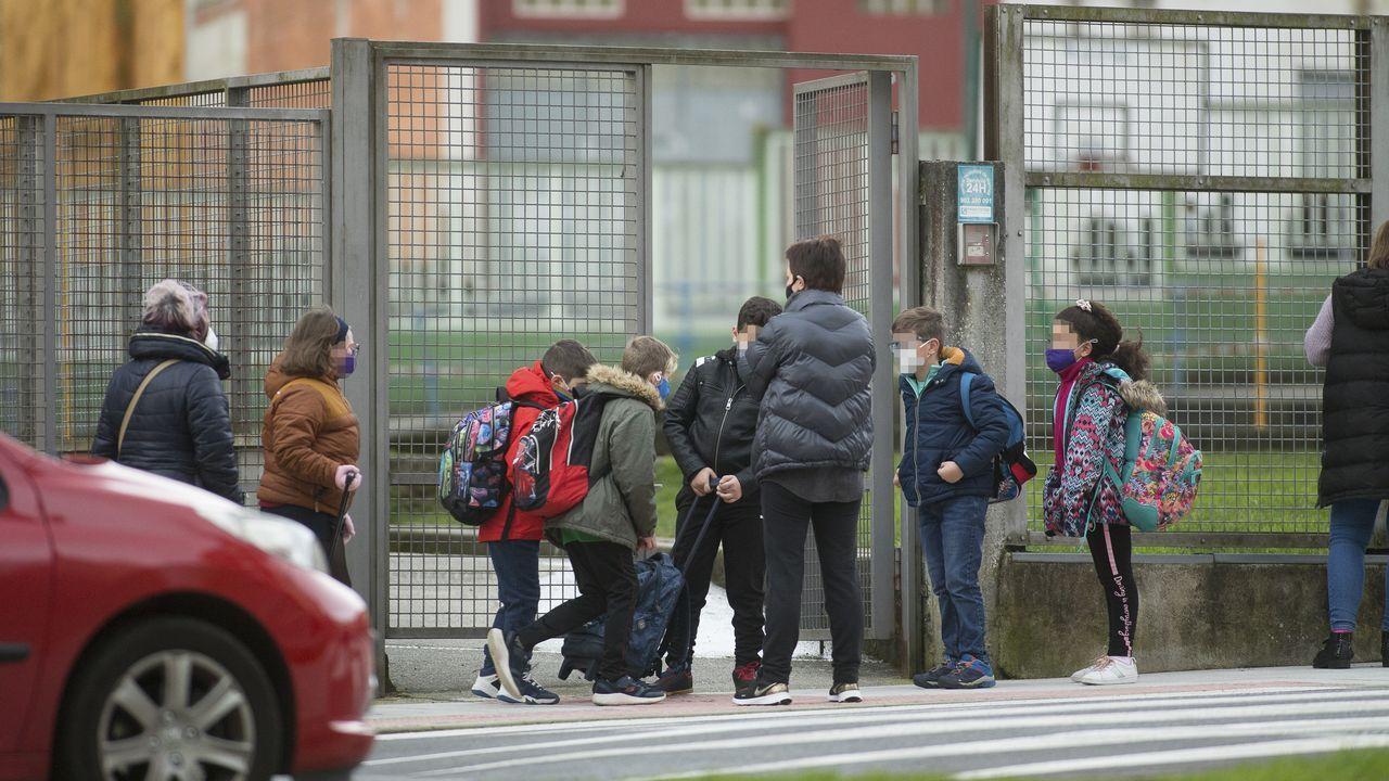 En directo: Sanidade y Educación explican el plan de vacunación de los profesores en Galicia.Escolares entrando este jueves al CEIP Paradai de Lugo, el que más casos positivos acumula de toda Galicia, con cuarenta
