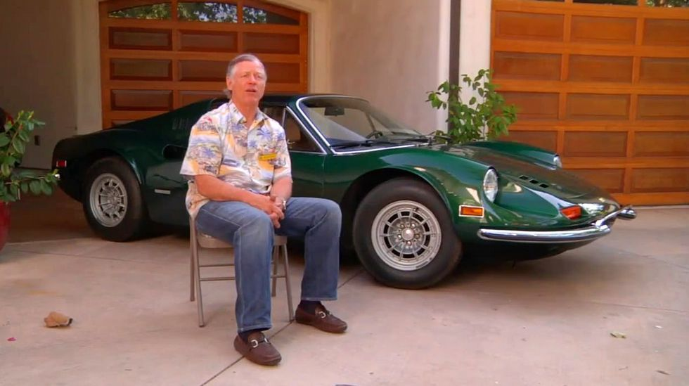 Brad Howard, actual propietario del Ferrari Dino desde 1978.