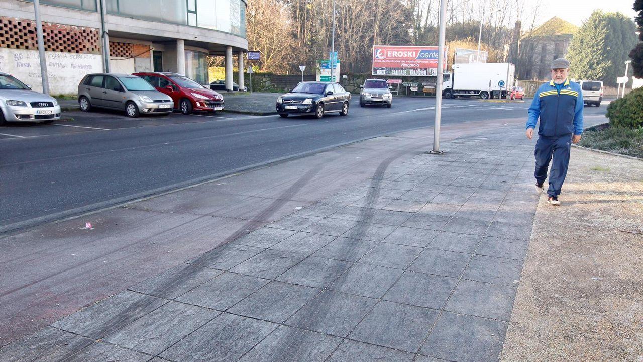 Calles heladas en la zona de Barbanza