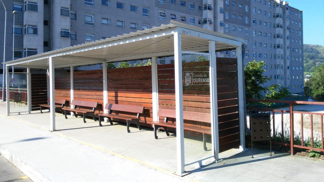 Marquesina junto a la vieja estación de autobuses