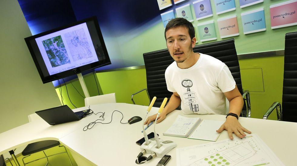 El concejal del Rural de Pontevedra, Alberto Oubiña (BNG)
