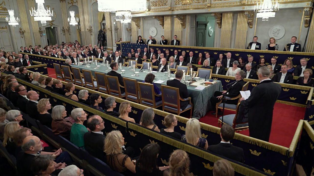 Detalle de la última fiesta anual de la Academia Sueca, celebrada el 20 de diciembre del 2018