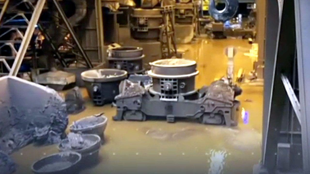 Inundaciones en A Coruña.Instalaciones de ArcelorMittal inundadas
