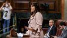 Laura Borràs, en una intervención en el Congreso de los Diputados