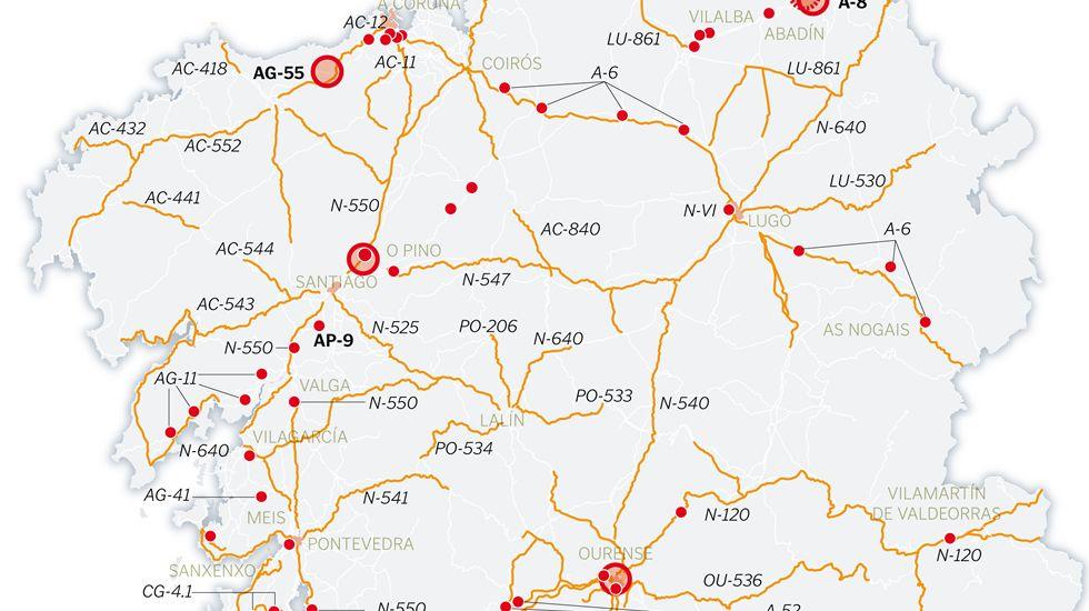 Todas las cabinas para radares fijos en Galicia