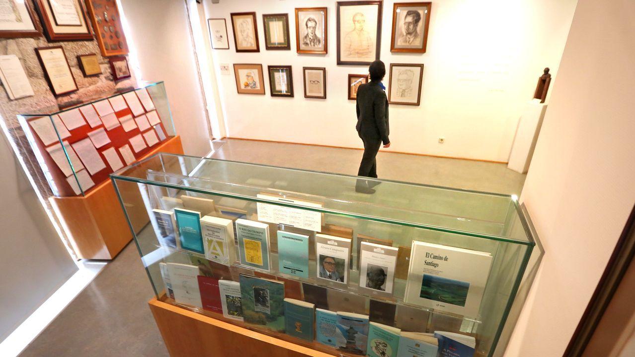 Dentro de la casa museo de Francisco Fernández del Riego