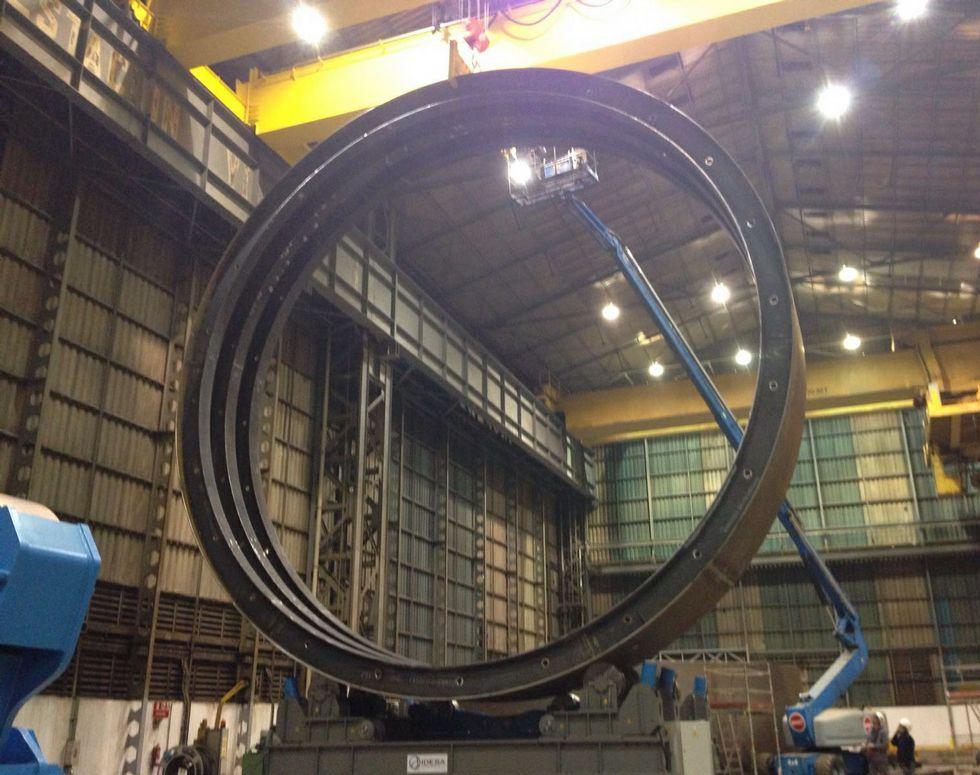 La obra de Statoil requirió de grandes inversiones en los talleres.
