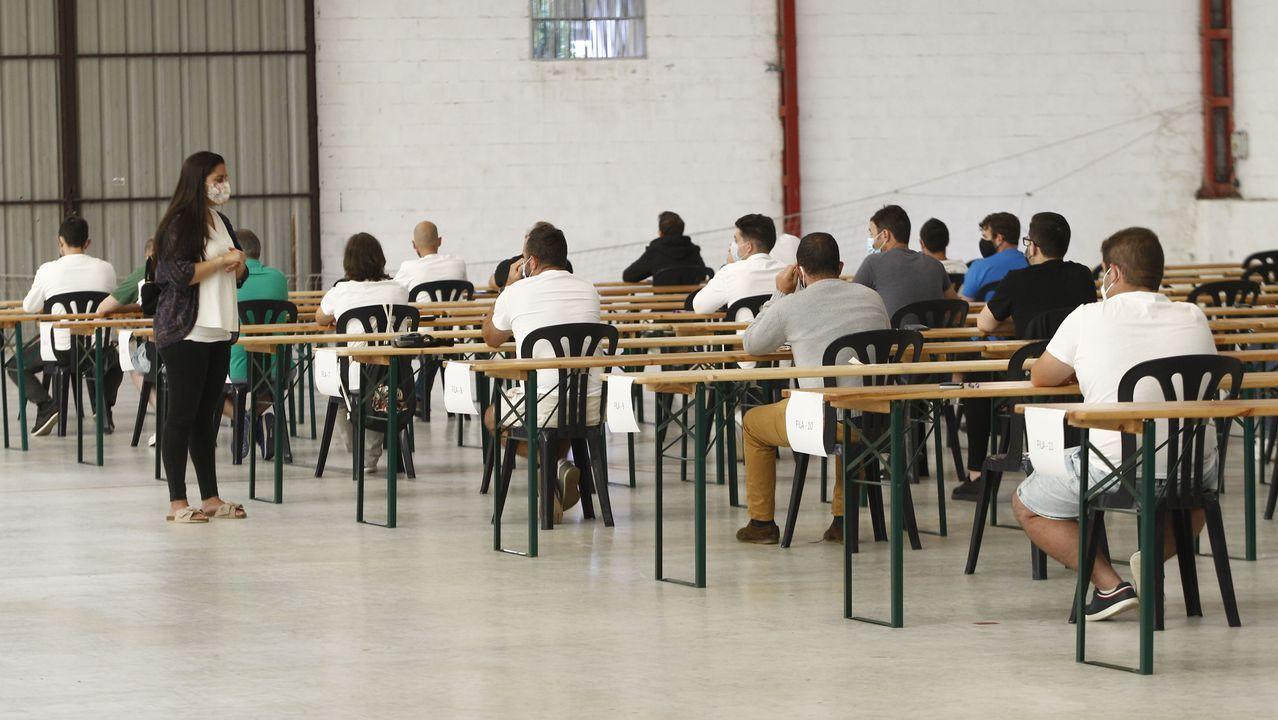 Los exámenes de los aspirantes a las plazas de Navantia del verano del 2020
