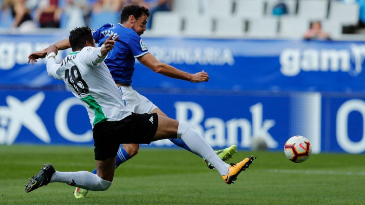 Gol Toche Real Oviedo Extremadura Carlos Tartiere.Toché anota el 1-0 frente al Extremadura