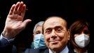 Silvio Berlusconi, el pasado 9 de febrero durante las negociaciones para formar Gobierno en Italia
